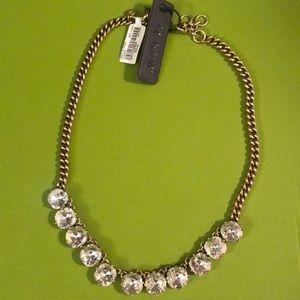 NWT J.Crew rhinestone necklace